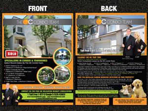 Flyer Design by Sarmishtha Chattopadhyay - Real Estate Marketing Flyer-8.5 by 11 Dual Sided