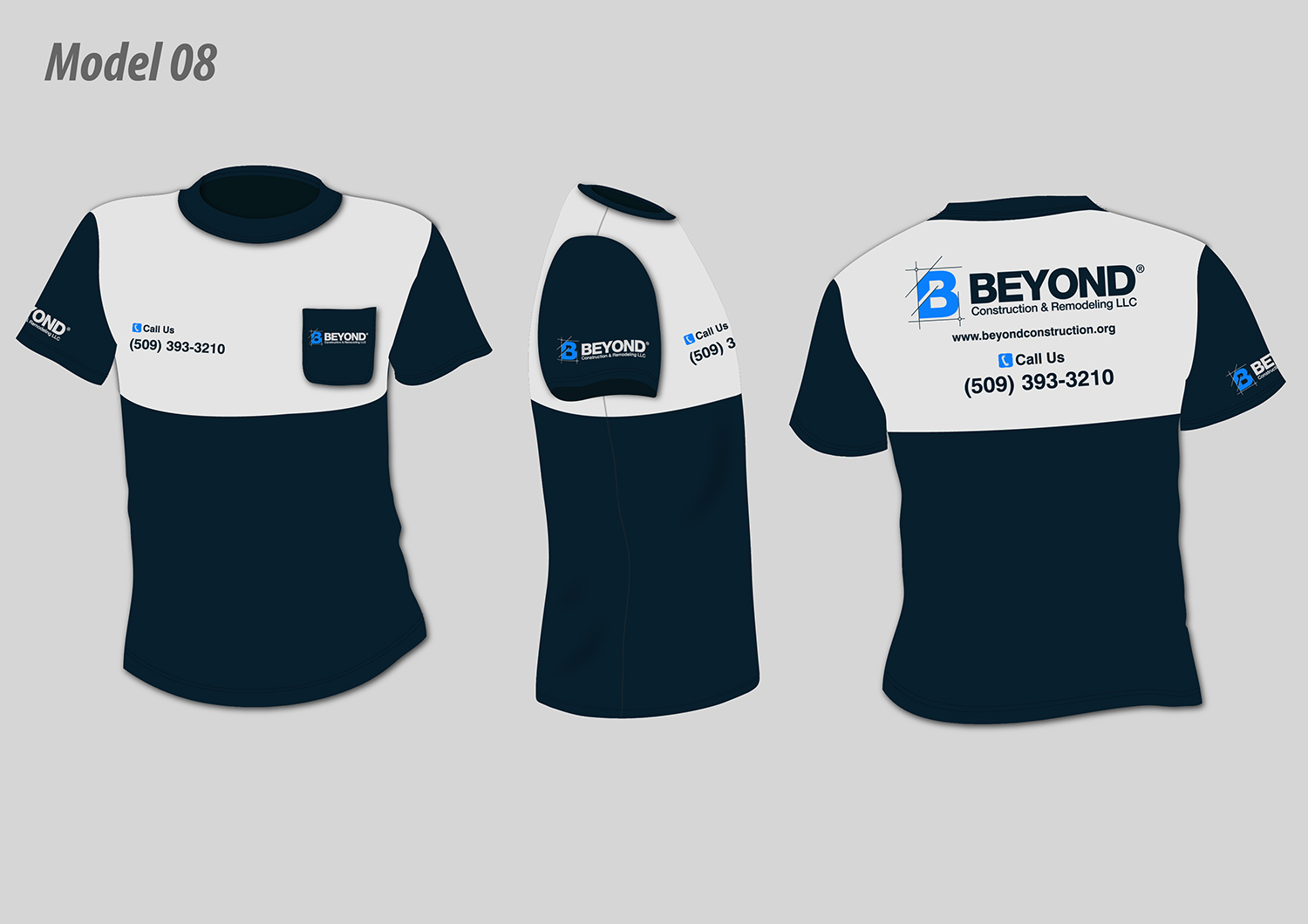 Bold, Serious T-shirt Design for Beyond Construction & Remodeling ...