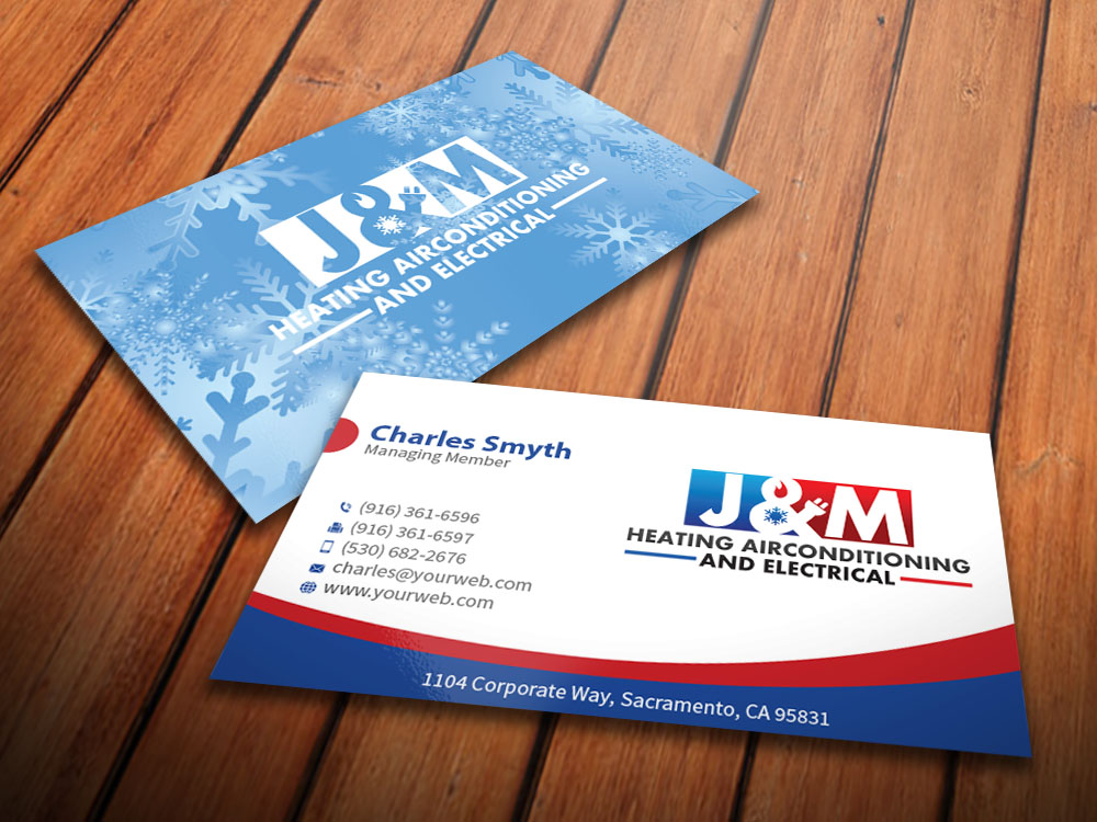 Bold, Serious, Trade Business Card Design for J&M heating ...