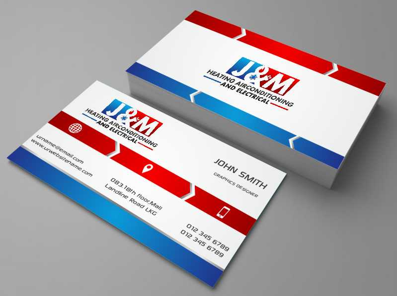 Bold serious trade business card design for jm heating bold serious trade business card design for jm heating airconditioning and electrical in australia design 7585512 colourmoves