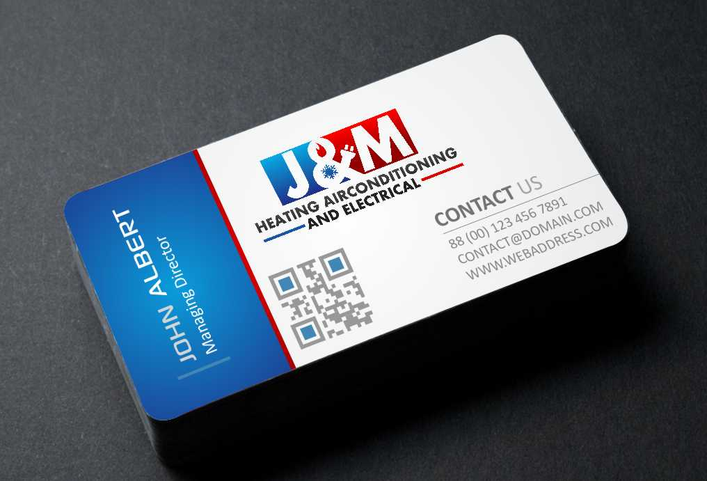 Bold, Serious Business Card Design for J&M heating airconditioning ...