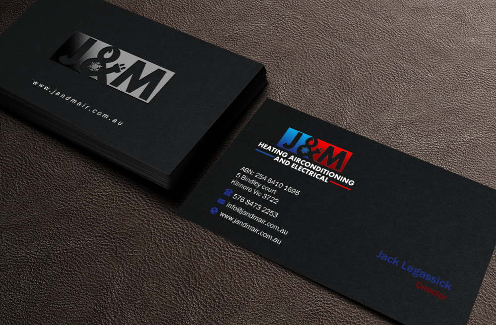Bold serious trade business card design for jm heating bold serious trade business card design for jm heating airconditioning and electrical in australia design 7585402 colourmoves