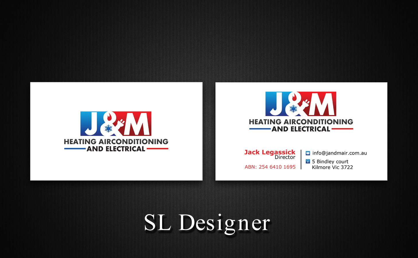 Bold serious trade business card design for jm heating bold serious trade business card design for jm heating airconditioning and electrical in australia design 7574299 colourmoves