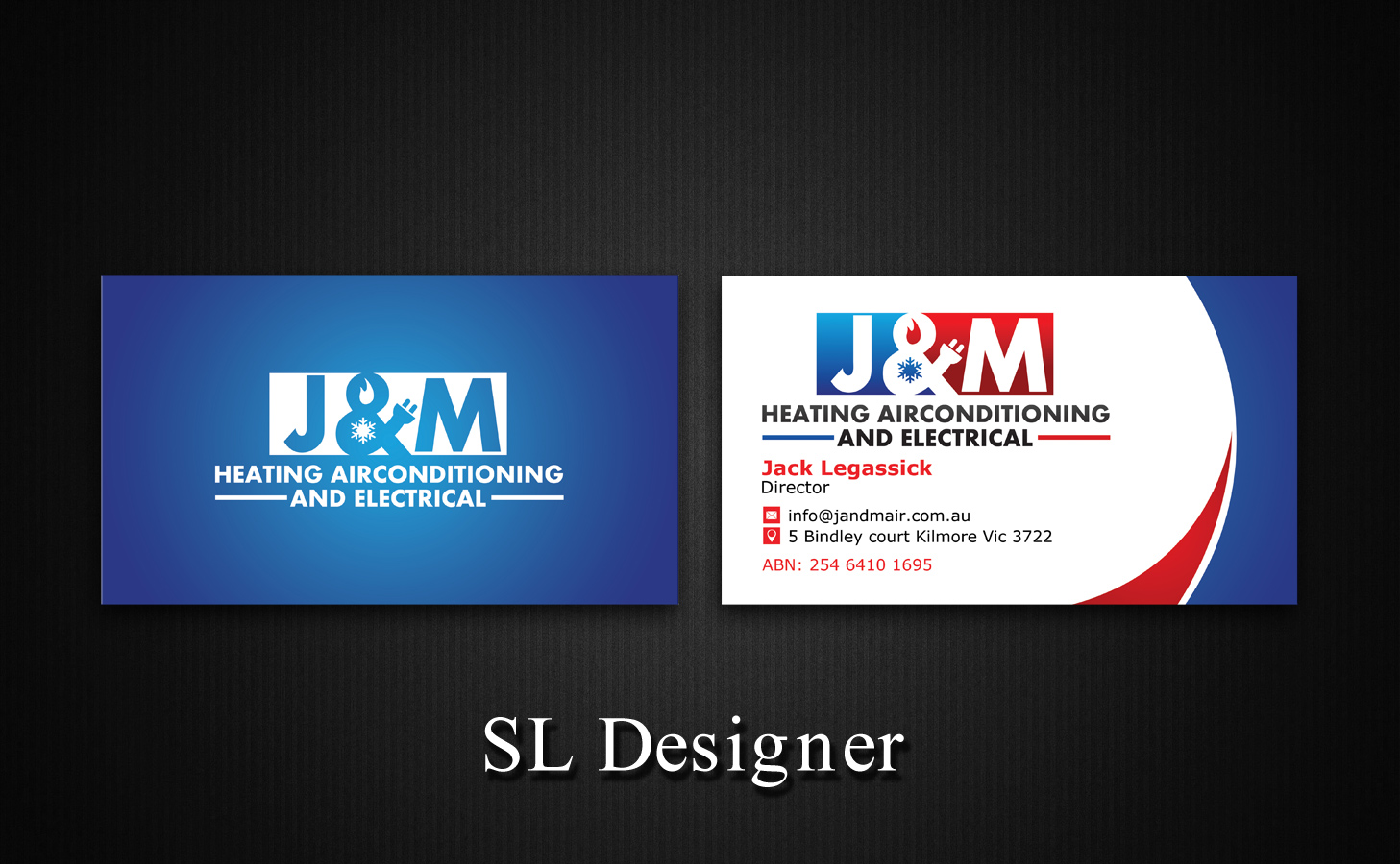 Bold serious trade business card design for jm heating bold serious trade business card design for jm heating airconditioning and electrical in australia design 7574310 reheart Image collections