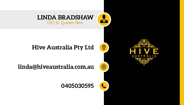 Elegant feminine business business card design for hive australia business card design by himanshi10 for hive australia design 7583221 reheart Choice Image