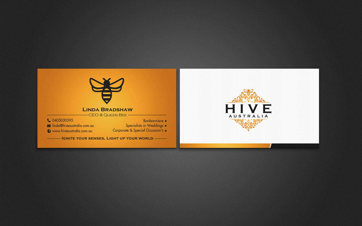 Elegant feminine business business card design for hive australia business card design by chandrayaaneative for hive australia design 7613839 reheart
