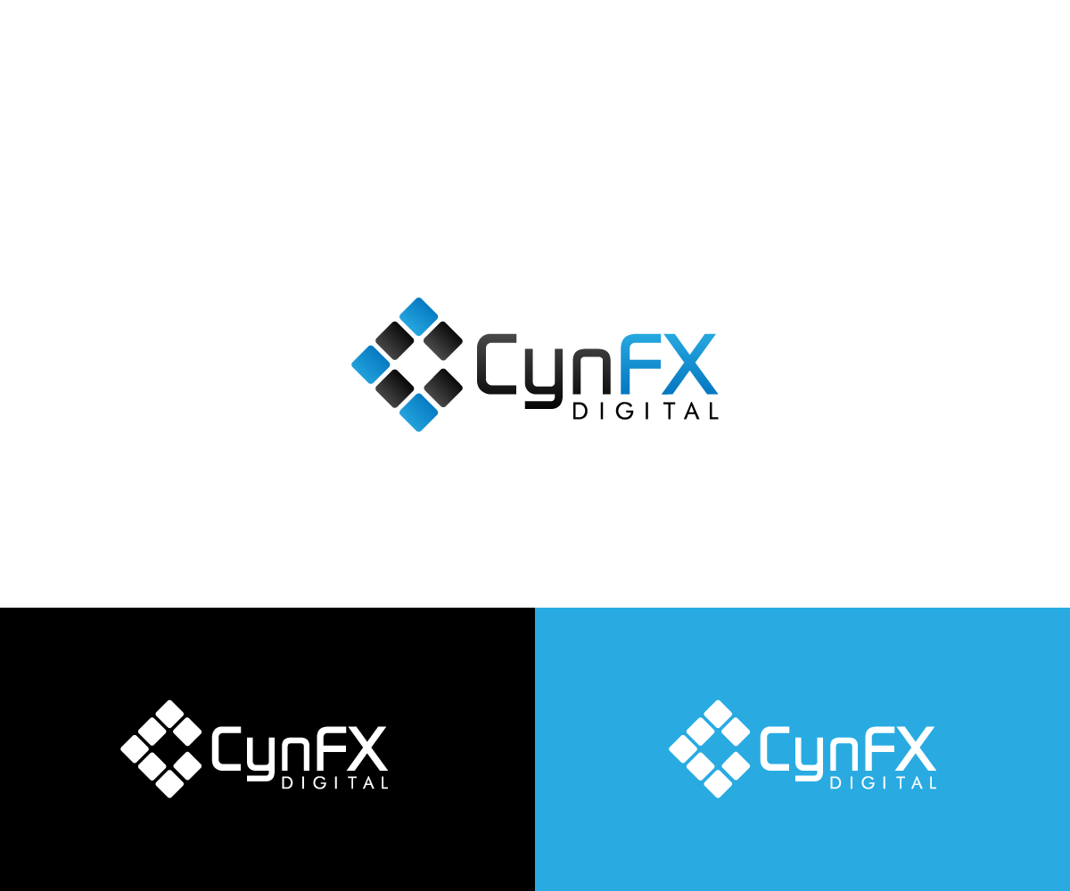 Modern bold it company logo design for cynfx digital by for The design company