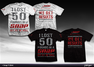 T-shirt Design by GekDesigns - I Lost 50 Pounds in a Snap!