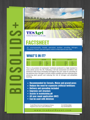 Flyer Design job Product Factsheet for waste management recycling ...