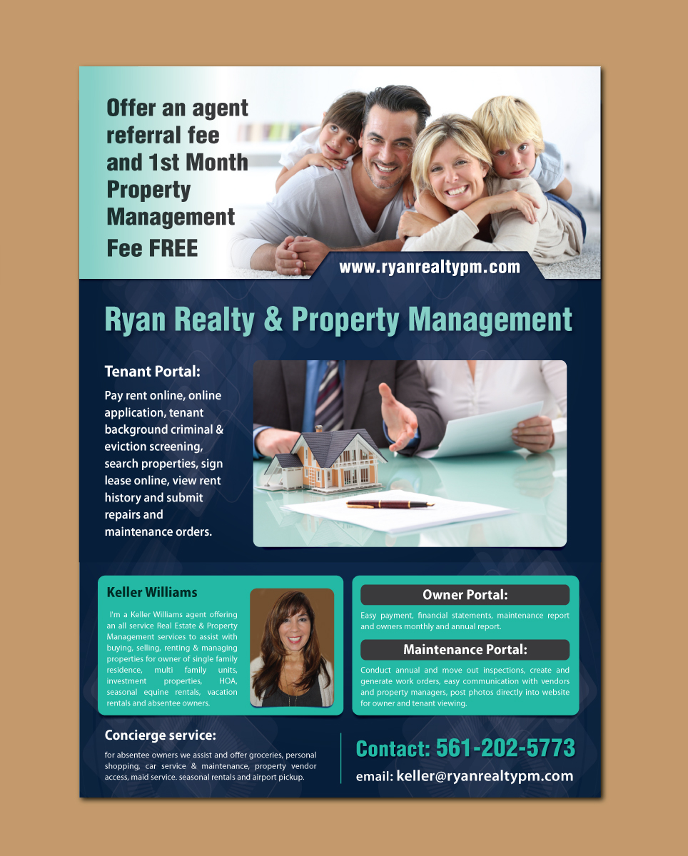 serious professional property management flyer design for a