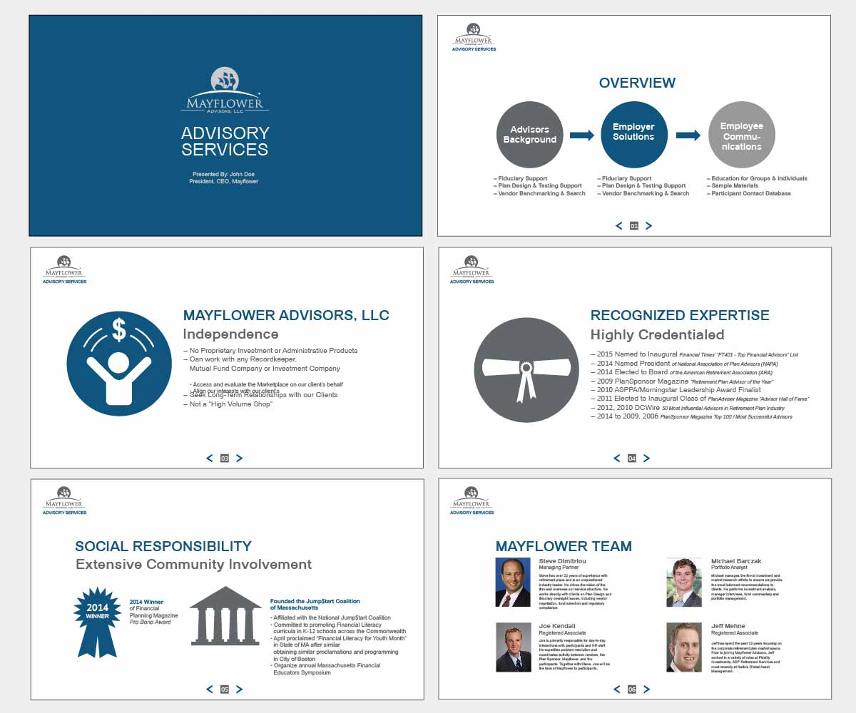 serious professional financial service powerpoint design for a