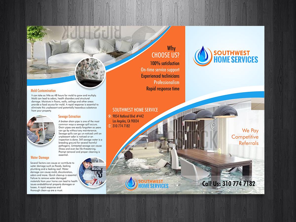 brochure design services - masculine bold business brochure design for southwest