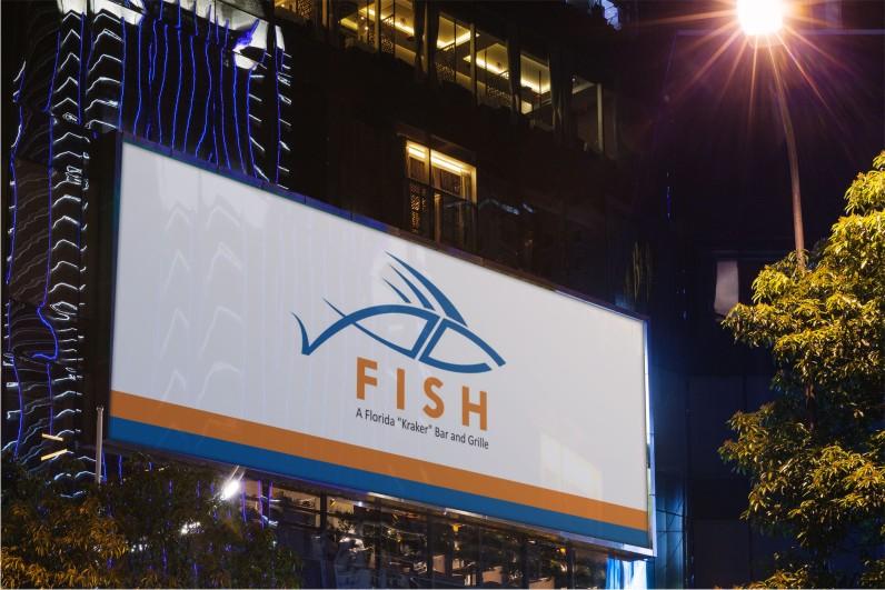 Restaurant logo design for f i s h a florida quot kraker bar