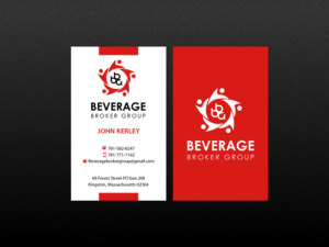Business Card Design By Creations Box 2017 For Beverage Broker Group 7648002