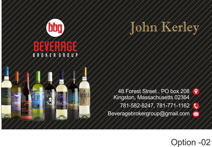 Business Card Design By Hoho Media Agency For Beverage Broker Group 7676902