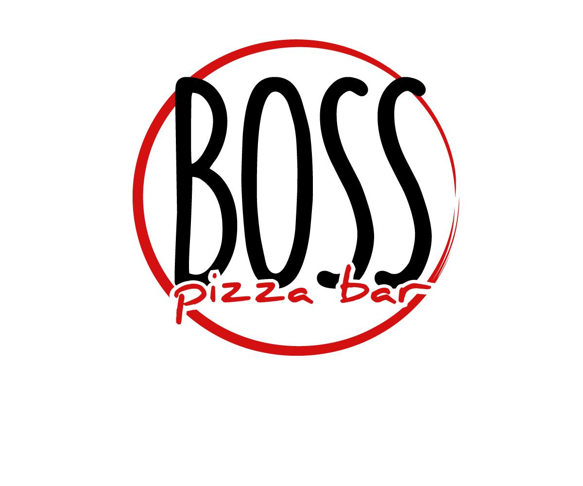 elegant playful restaurant logo design for boss pizza