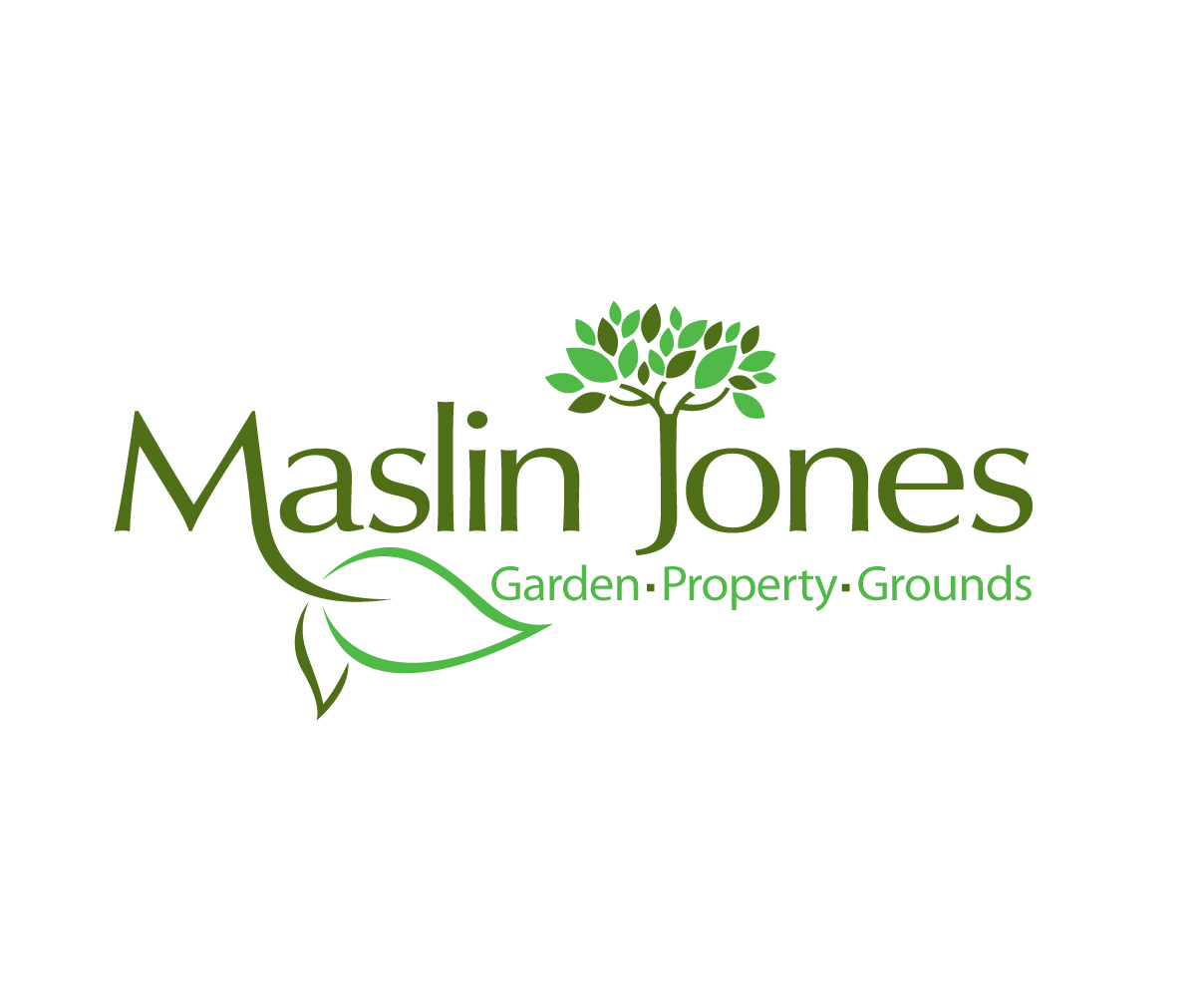 Bold serious home and garden logo design for maslin Homes and gardens logo