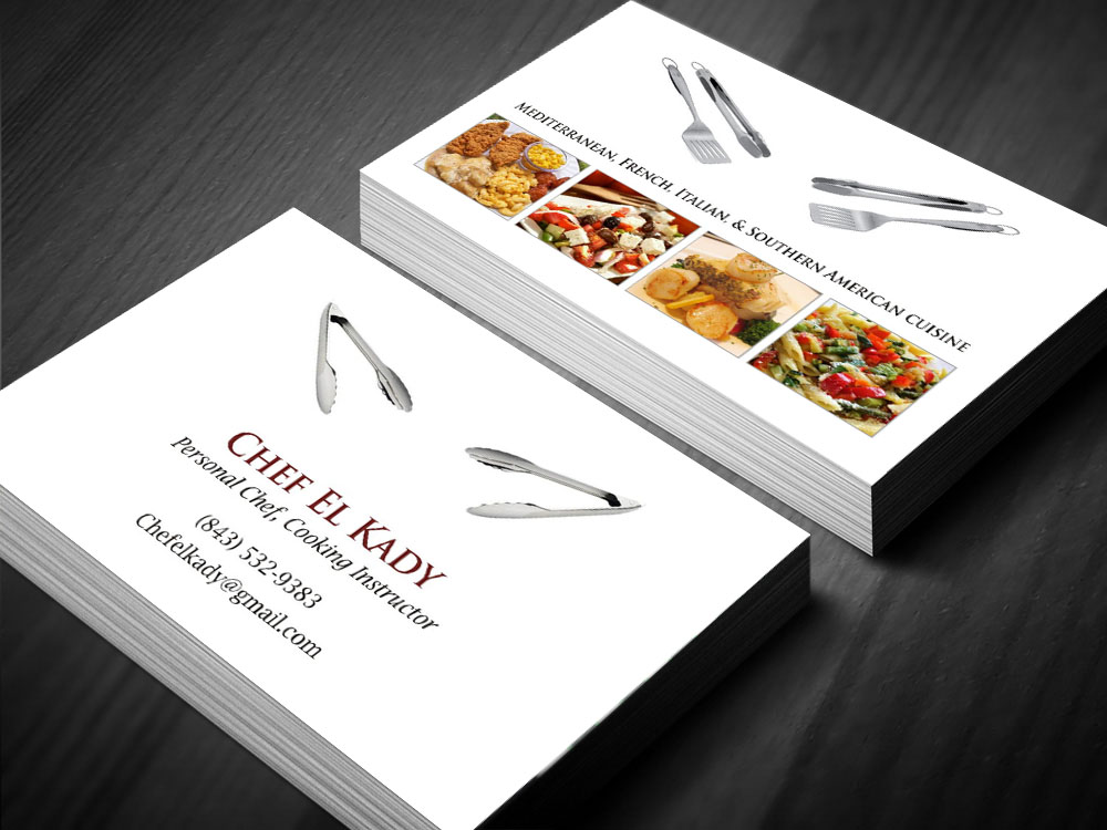 Elegant playful business card design for personal chef by poonam business card design by poonam gupta for personal chef private cooking classes catering colourmoves