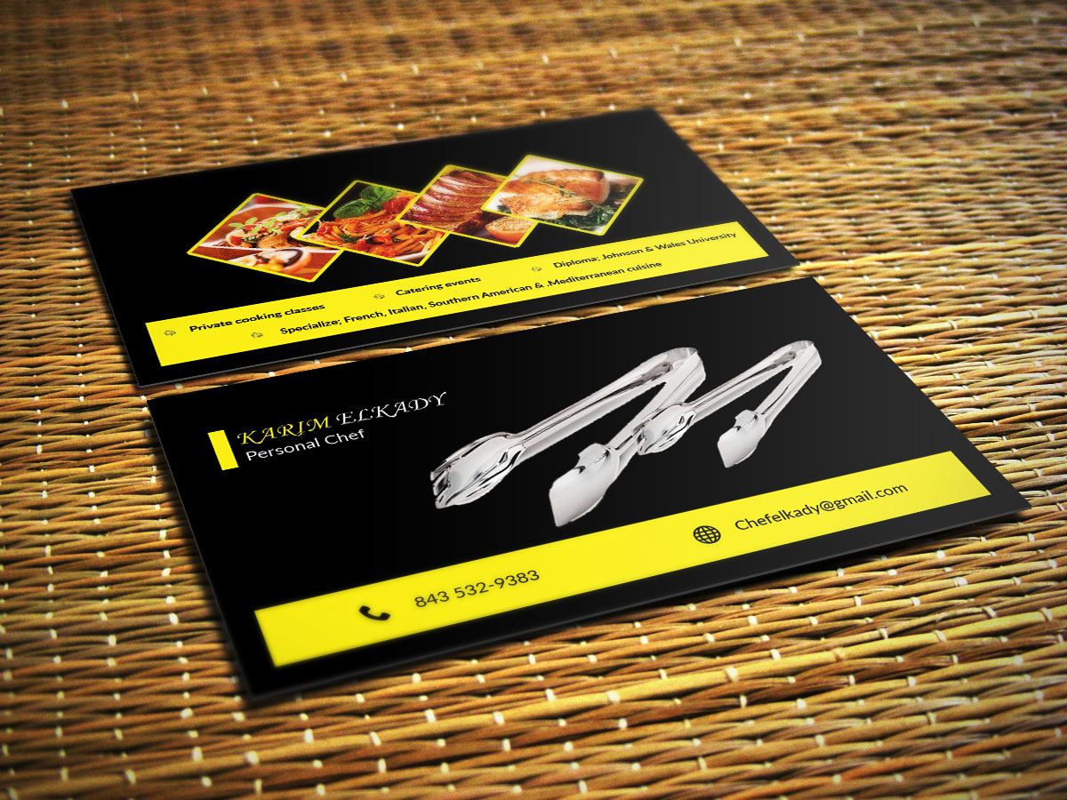 personal chef business cards personal chef business
