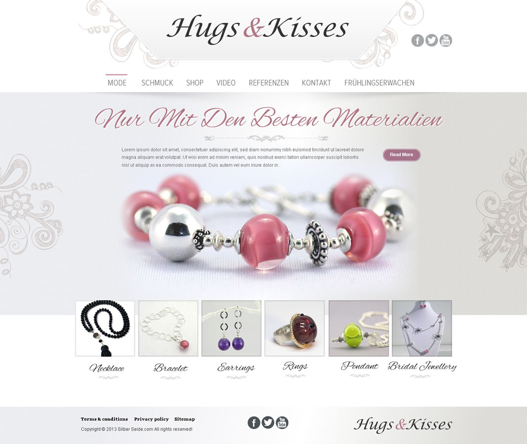 65 Modern Web Designs Jewelry Web Design Project for a Business in