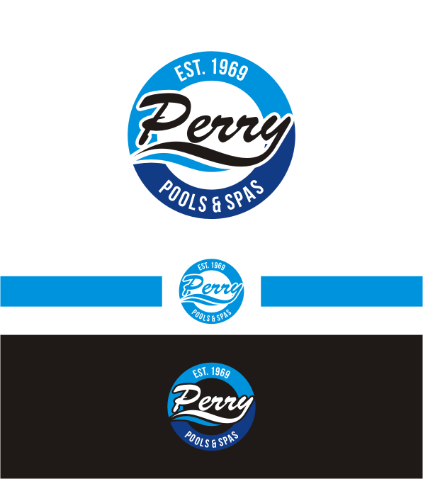 Ernst m nnlich pool service logo design for perry pools for Pool design logo