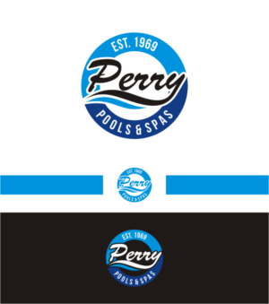 Perry Pools | Logo Design By Arrisku98