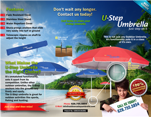Brochure Design by chawije - I need a brochure for an Outdoor Umbrella Company