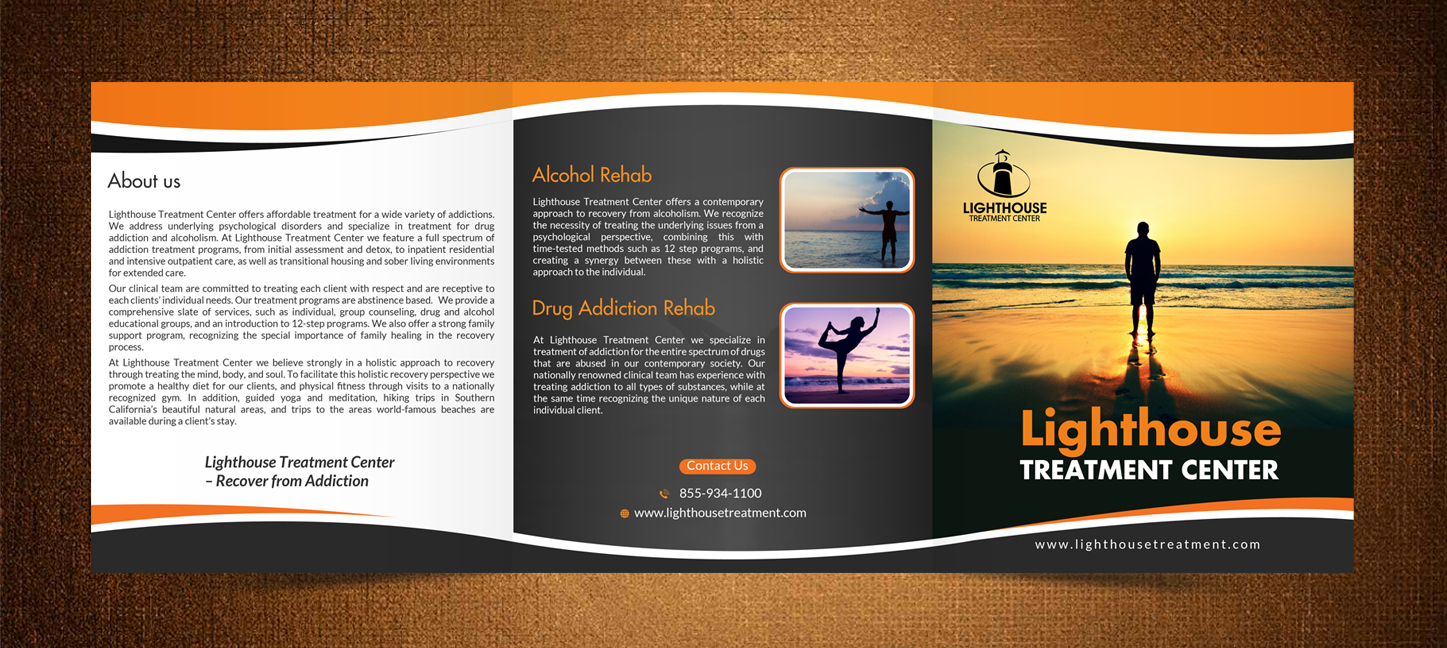 Modern Professional Brochure Design for Jim Sugel by debdesign – Drug Brochure