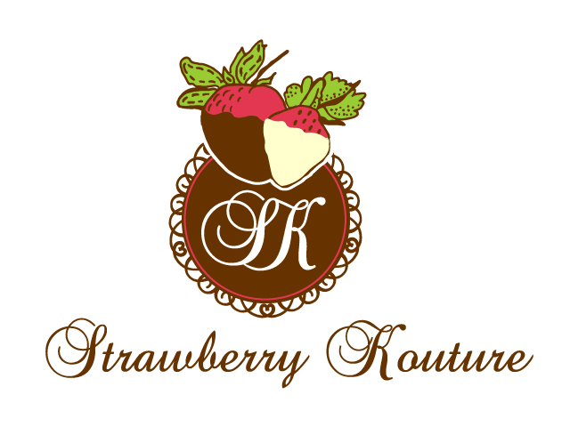traditional elegant catering logo design for strawberry kouture by design 7750644. Black Bedroom Furniture Sets. Home Design Ideas
