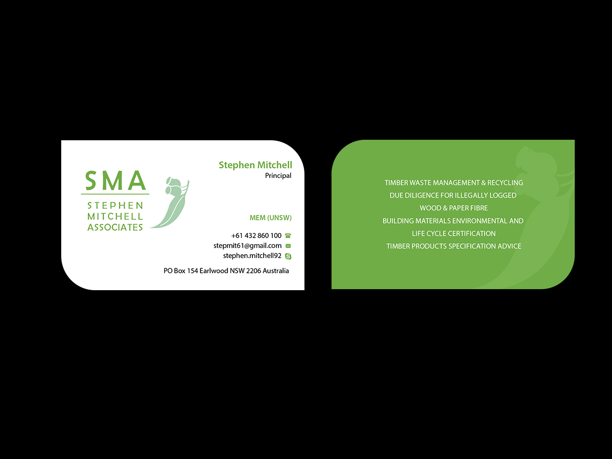 Business business card design for stephen mitchell associates by business business card design for stephen mitchell associates in australia design 7687178 reheart Choice Image