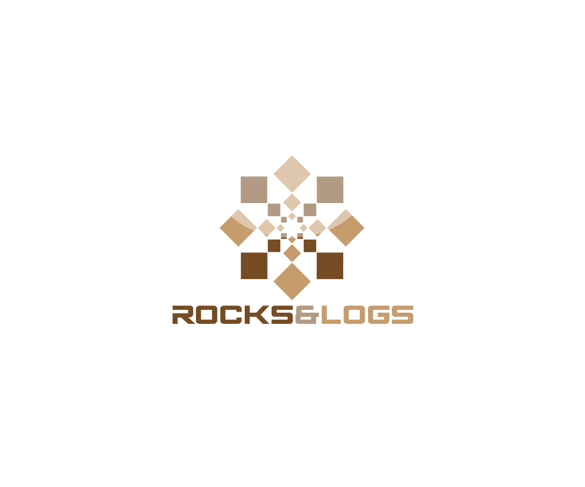 Upmarket Serious Contractor Logo Design For Rocks Amp Logs