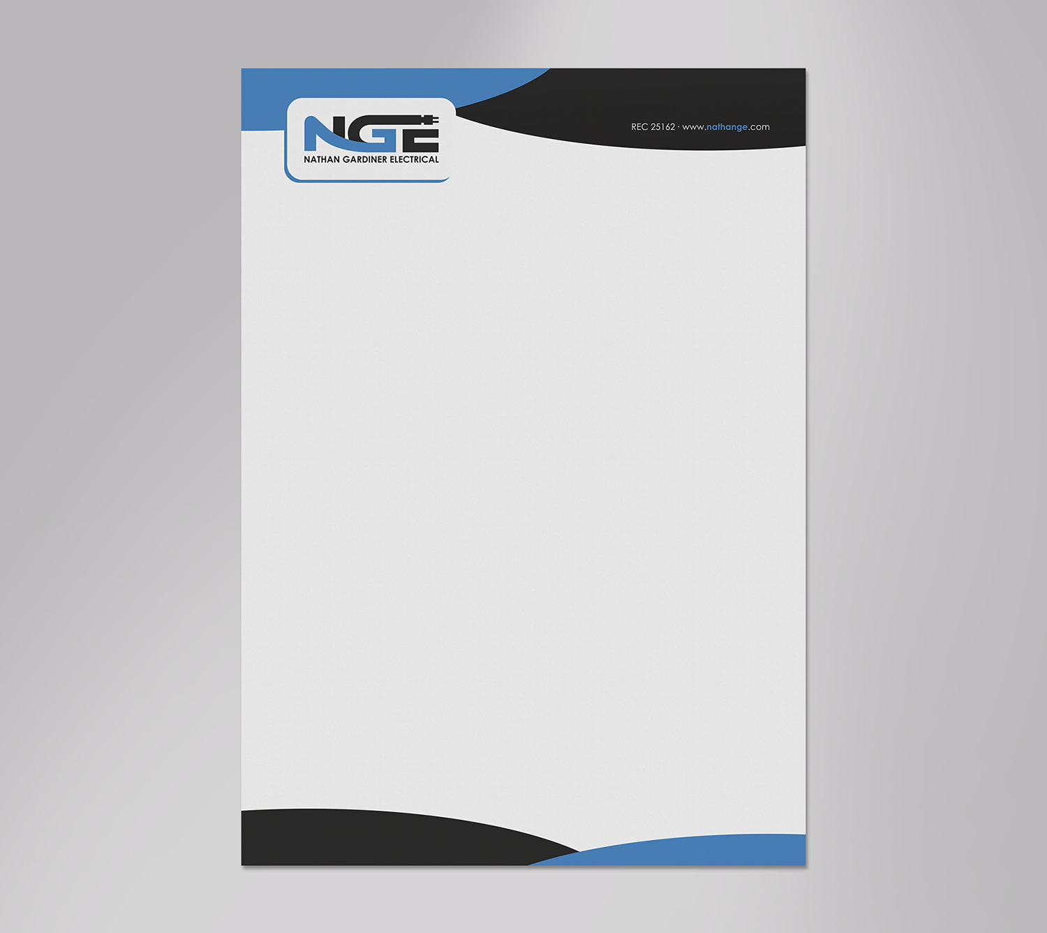 Letterhead Design By Logodentity For Nathan Gardiner Electrical