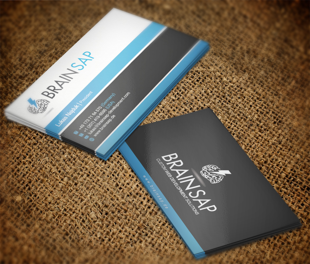 Serious, Professional, It Company Business Card Design for Brainsap ...