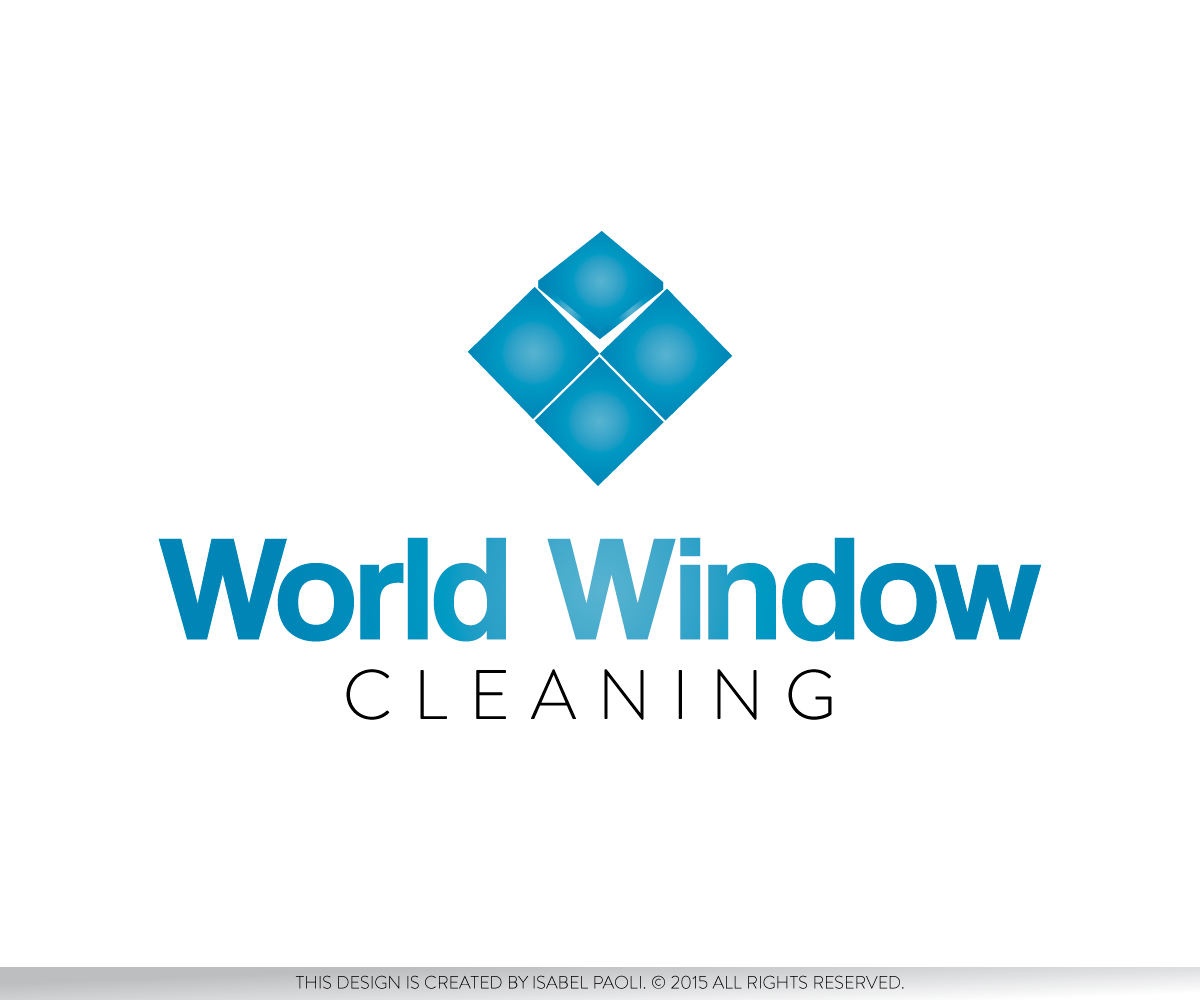 design de logo traditionnel professionnelle window cleaning pour world window cleaning par. Black Bedroom Furniture Sets. Home Design Ideas