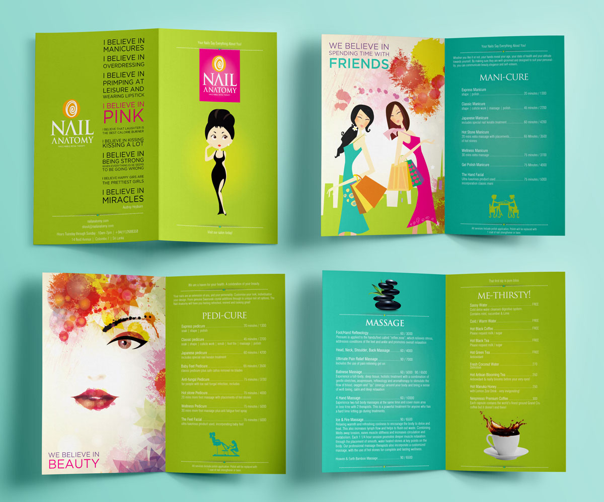 Modern, Upmarket, Salon Brochure Design for a Company by Jackie ...