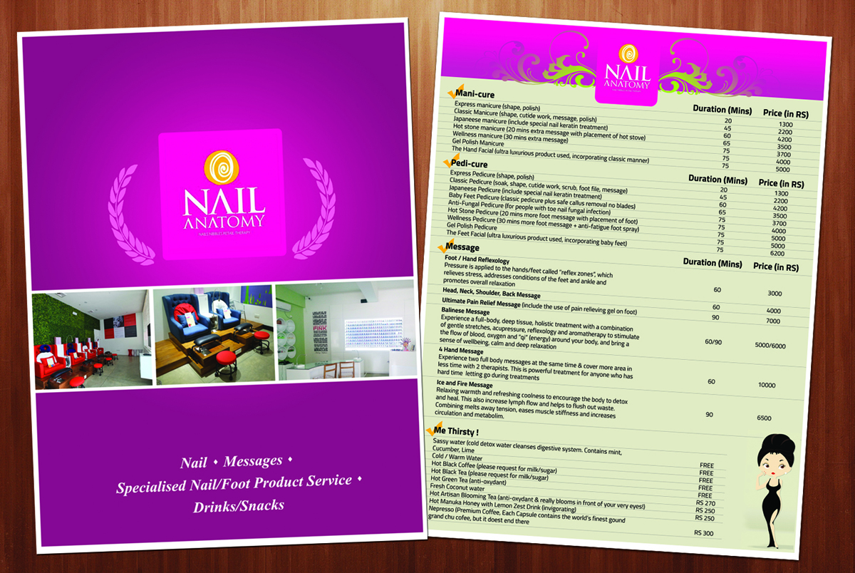 Modern, Upmarket, Salon Brochure Design for a Company by dayzign ...