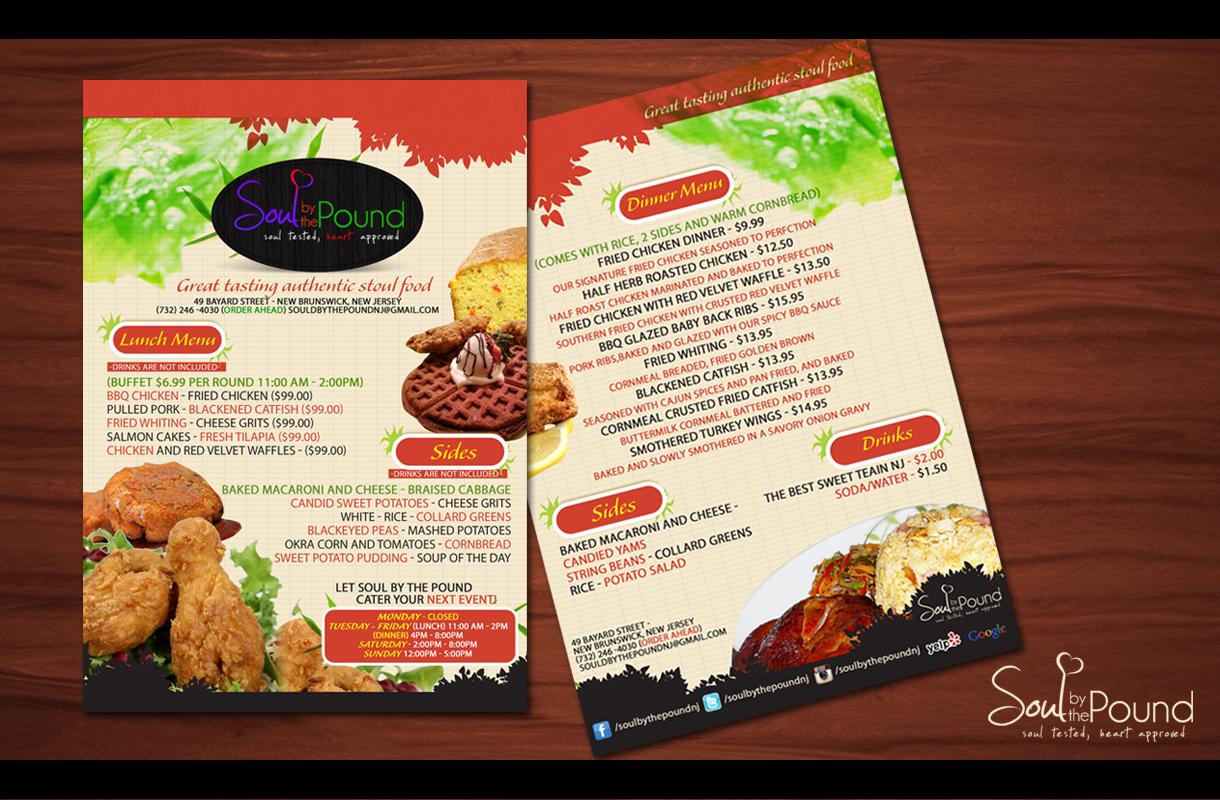 supermarket flyer design
