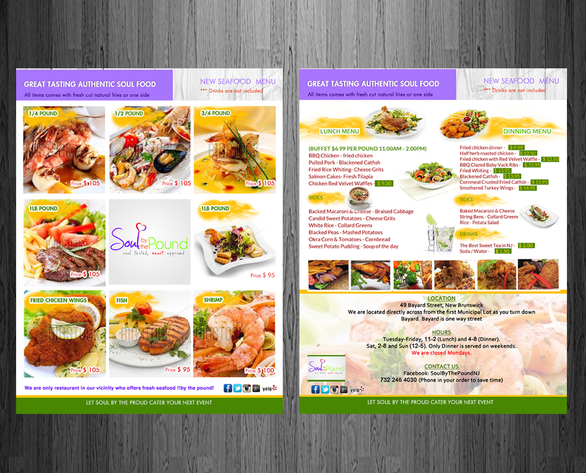 Colorful bold advertising flyer design for a company by
