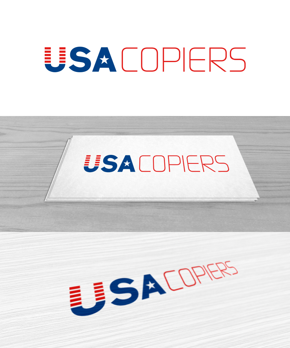Elegant playful it company logo design for usa copiers for Design company usa