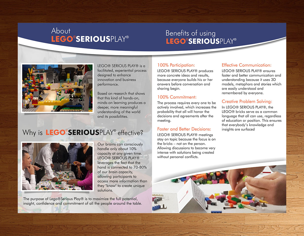 Bold, Modern, Management Consulting Brochure Design for a