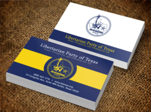 business card design design submitted to libertarian party of texas business cards
