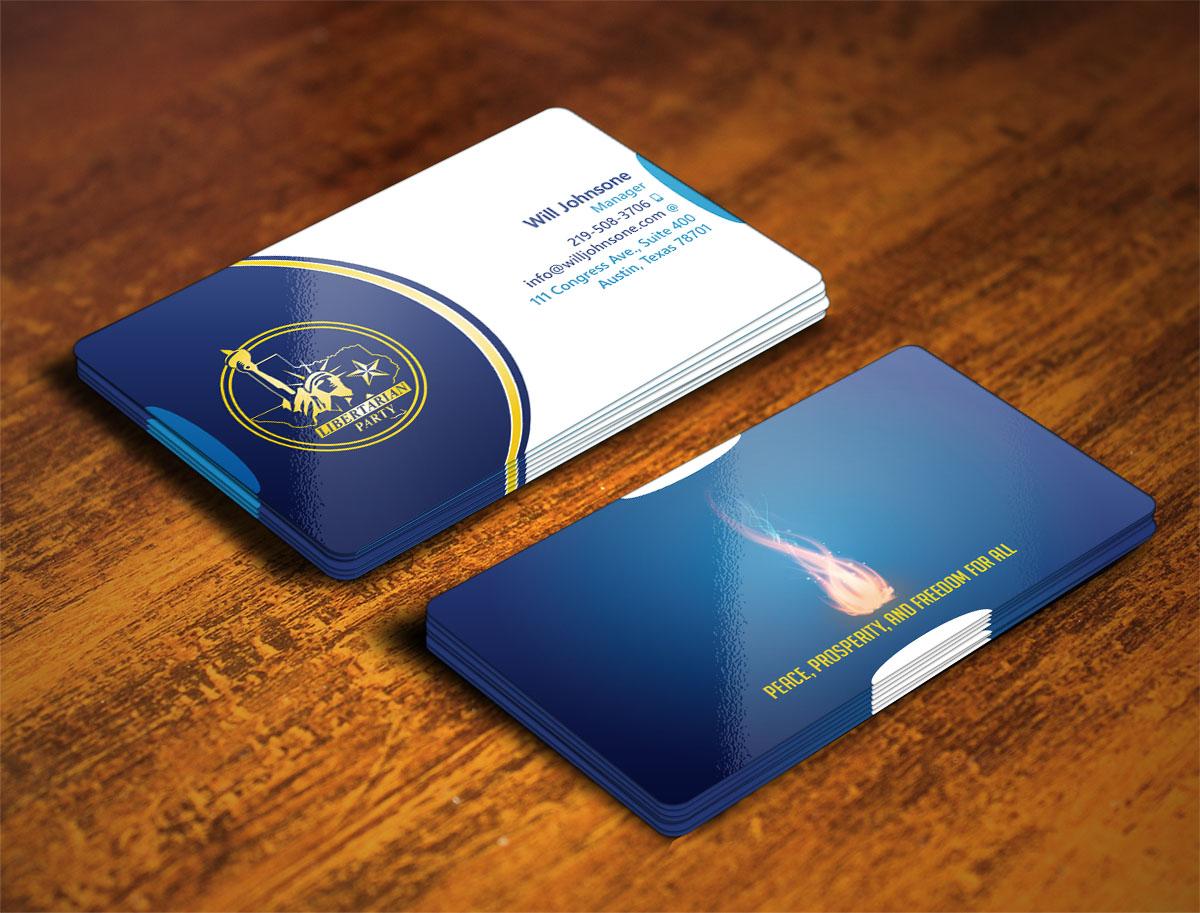 Bold modern political business card design for libertarian party bold modern political business card design for libertarian party of texas in united states design 7724595 colourmoves