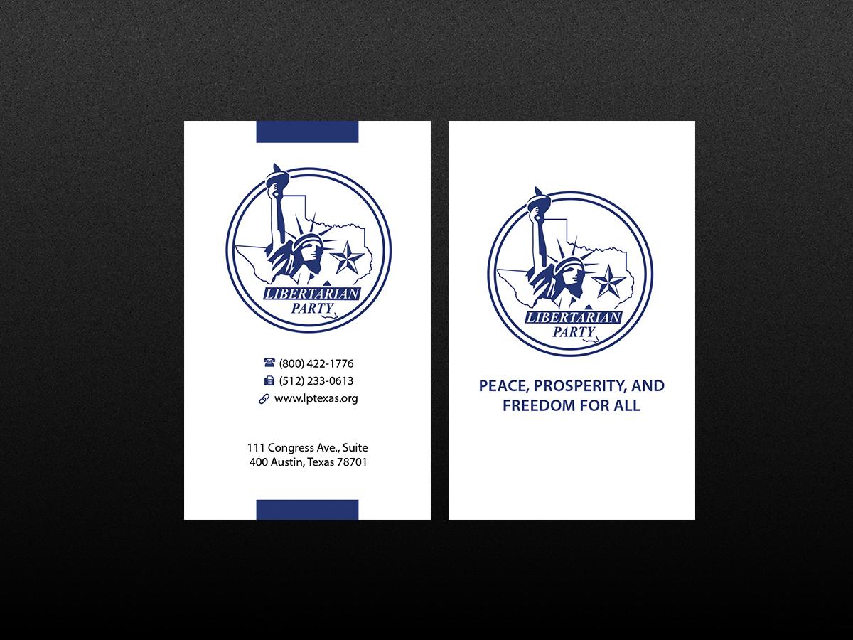 Bold modern political business card design for libertarian party bold modern political business card design for libertarian party of texas in united states design 7705602 colourmoves
