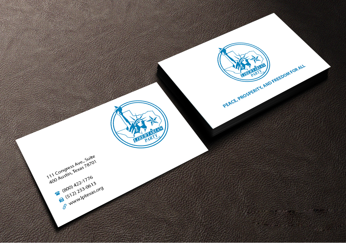 Bold modern political business card design for libertarian party bold modern political business card design for libertarian party of texas in united states design 7705606 colourmoves Choice Image