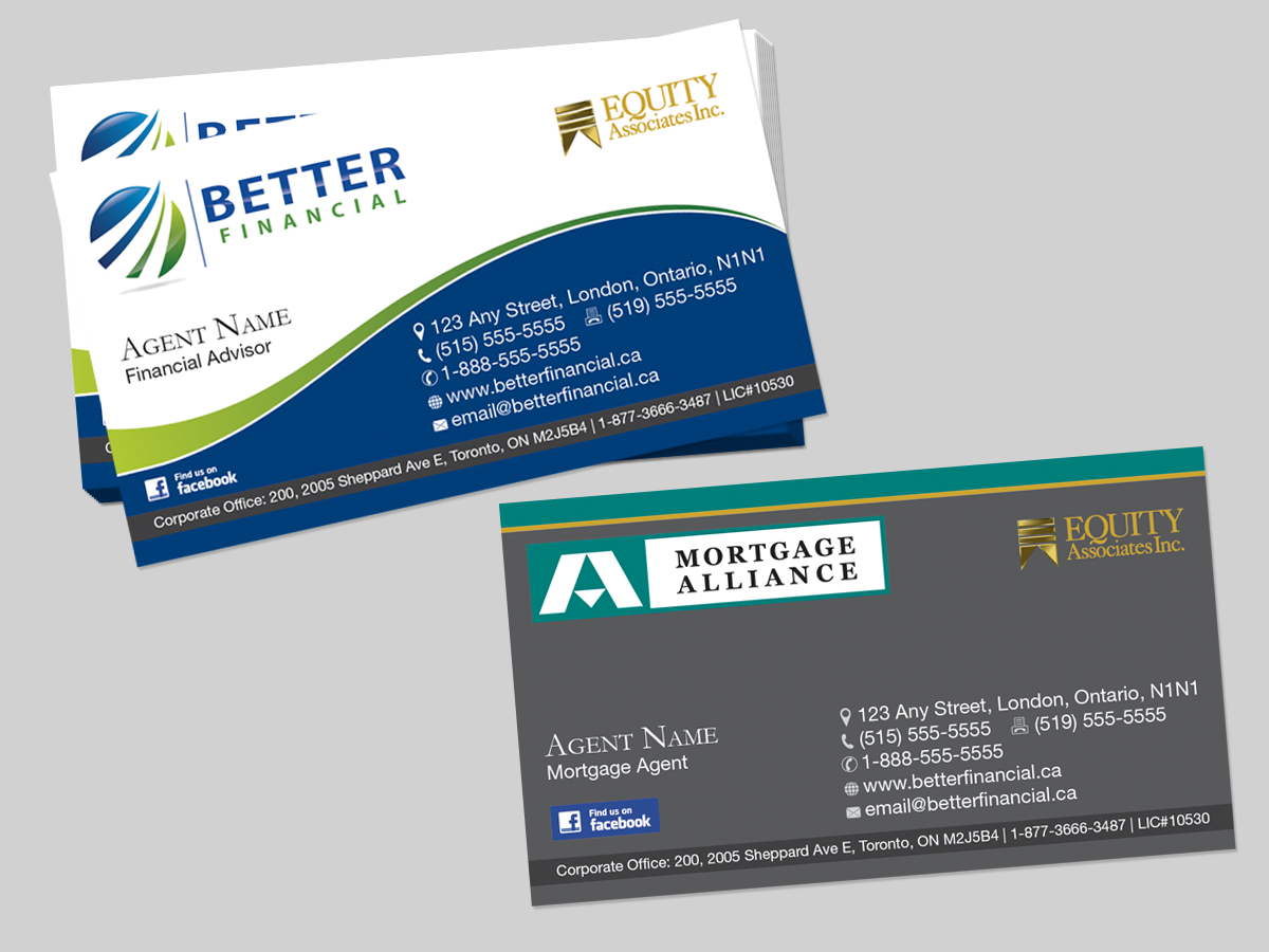 Bold modern financial business card design for better financial by bold modern financial business card design for better financial in canada design 1924480 reheart Images