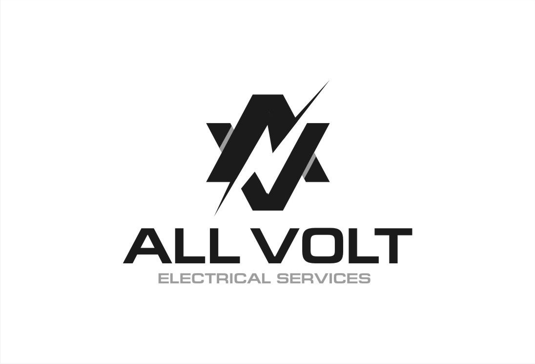 elegant  playful  electrical logo design for all volt electrical services by creative bugs