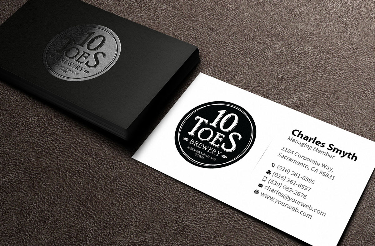Bold, Playful Business Card Design for Ten Toes Brewery by ...