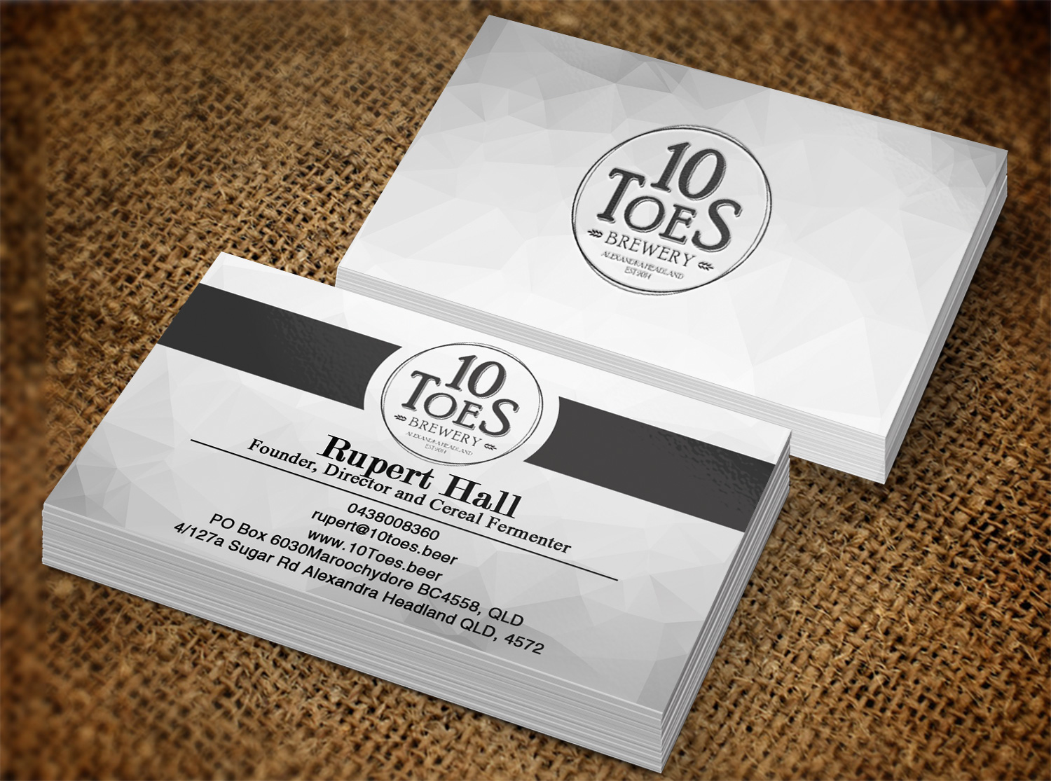 Bold, Playful Business Card Design for Ten Toes Brewery by Lanka ...
