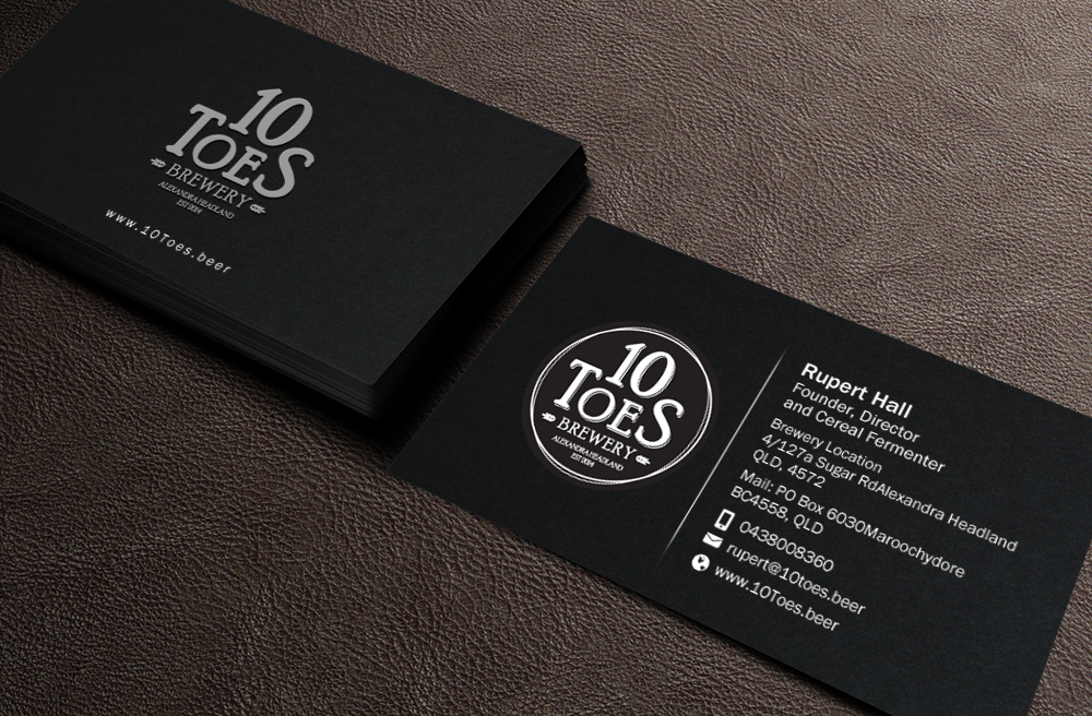 Bold, Playful Business Card Design for Ten Toes Brewery by Brand ...