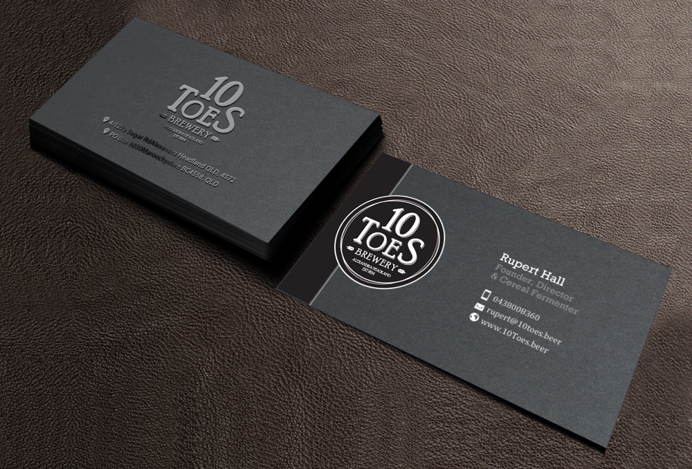 Bold, Playful, Business Business Card Design for Ten Toes Brewery by ...